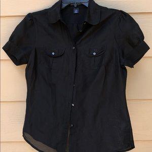 Gap Cotton/Silk Black Blouse